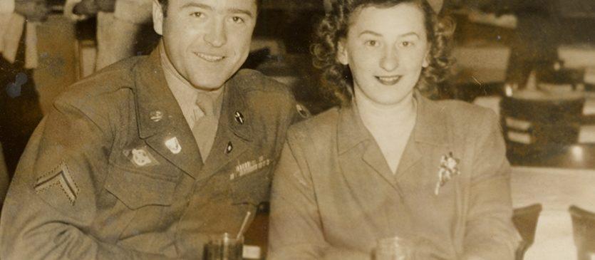 Michael and Olga Sharon circa 1941, WWII era ©Photo property of Sharon Family.