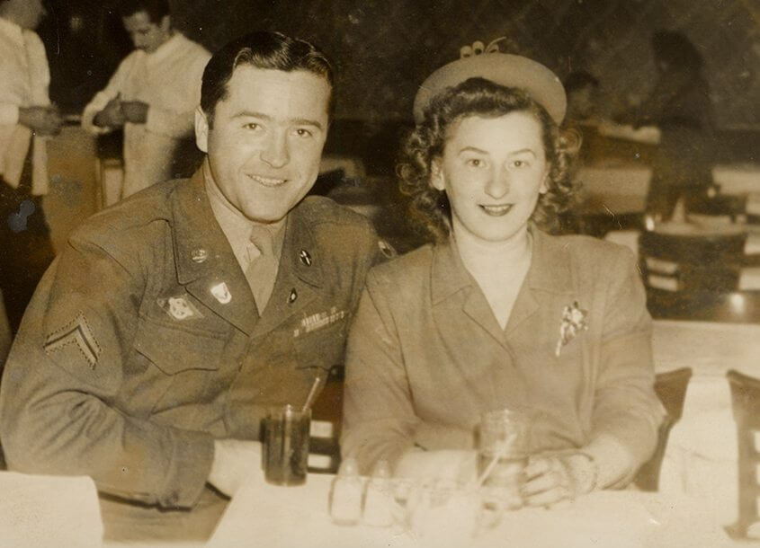 Michael and Olga Sharon circa 1941, WWII era ©Photo property of Sharon Family.