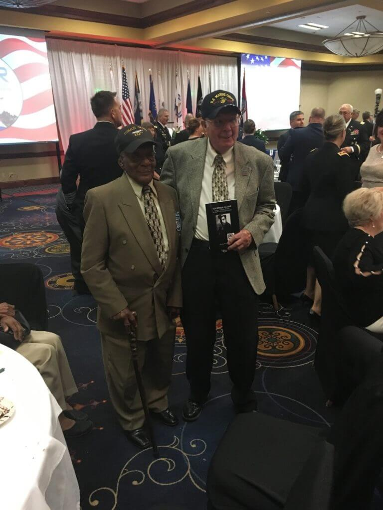 Two WWII veterans, Jim Shipley and Robert Lumpkin at the ESGR Awards Dinner