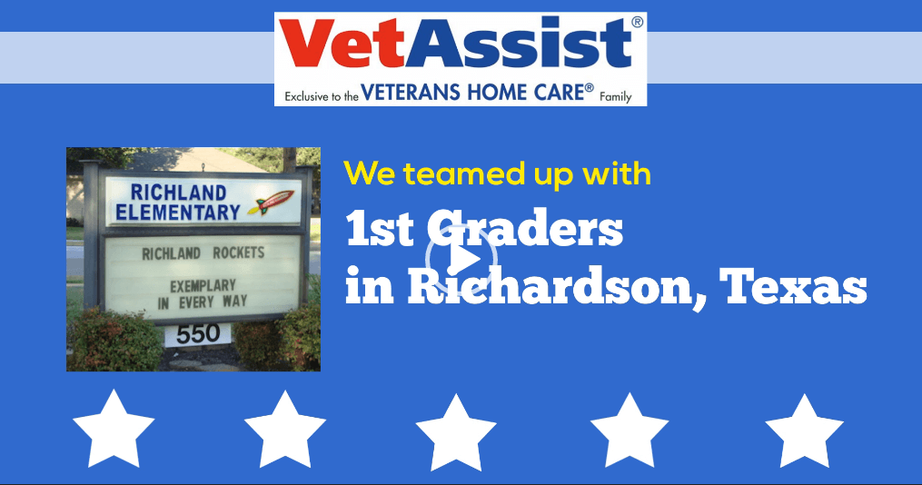 Richardson Texas 1st Graders Thank Veterans