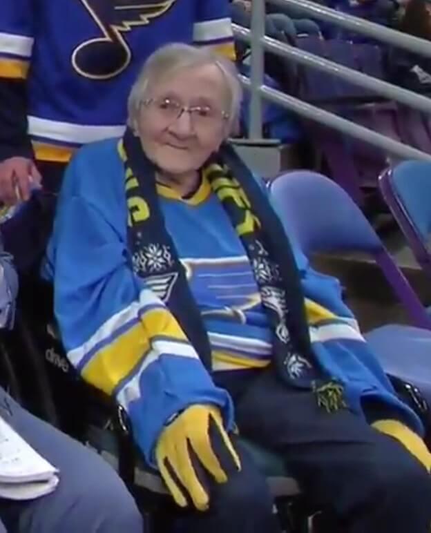 106-year old blues hockey fan